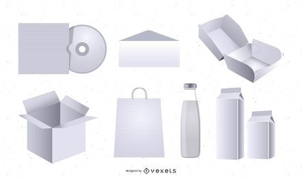 Vorlage für das 3D-Verpackungsmodell
