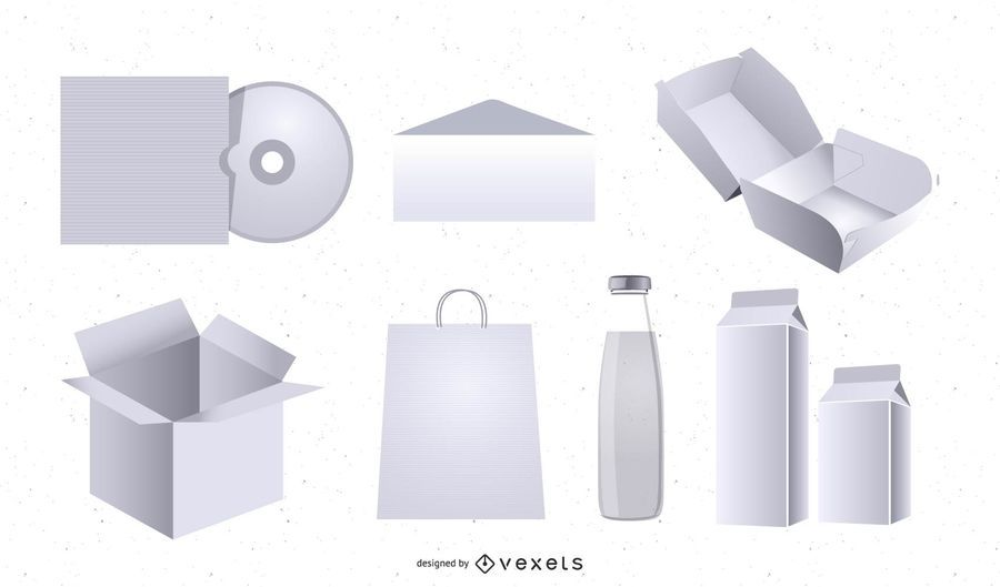 3D Packaging Mockup Template