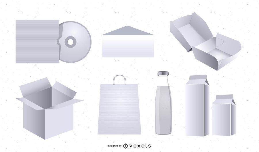Plantilla de maqueta de embalaje 3D