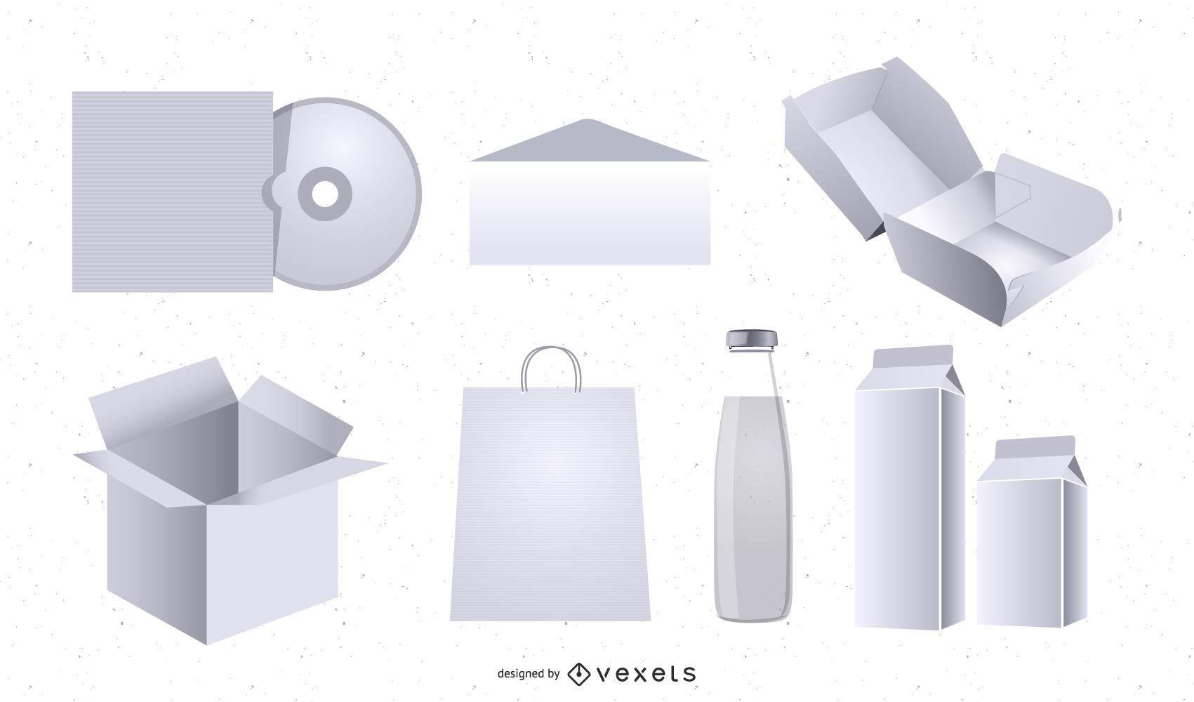 3D Packaging Mockup Template