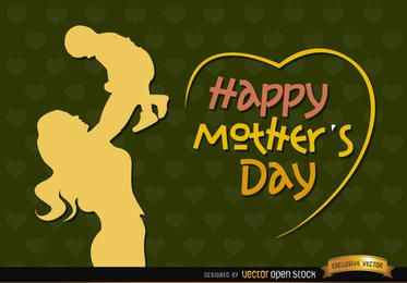 Día de la Madre y el bebé de la madre de la vendimia