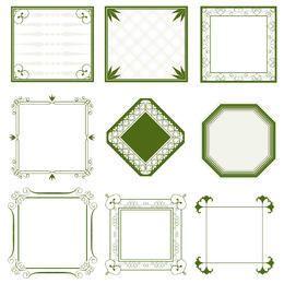 Colección de marco ornamentado minimalista vintage