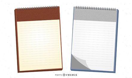 Encuadernación espiral papel de carta realista