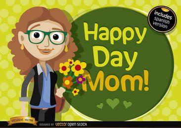 Dia feliz, mãe, caricatura