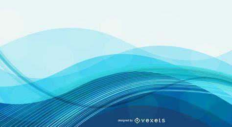 Fundo azul abstrato com ondas