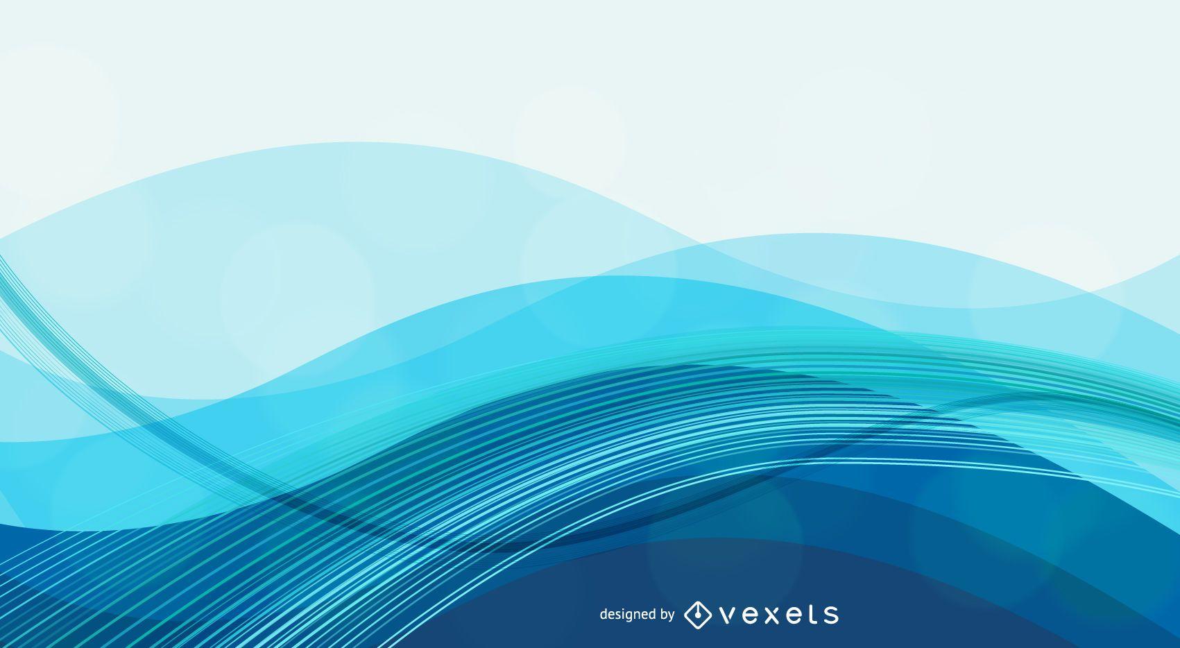 Fondo azul abstracto con ondas