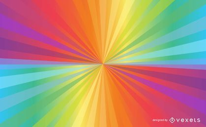 Bright Rainbow Sunbeam Background