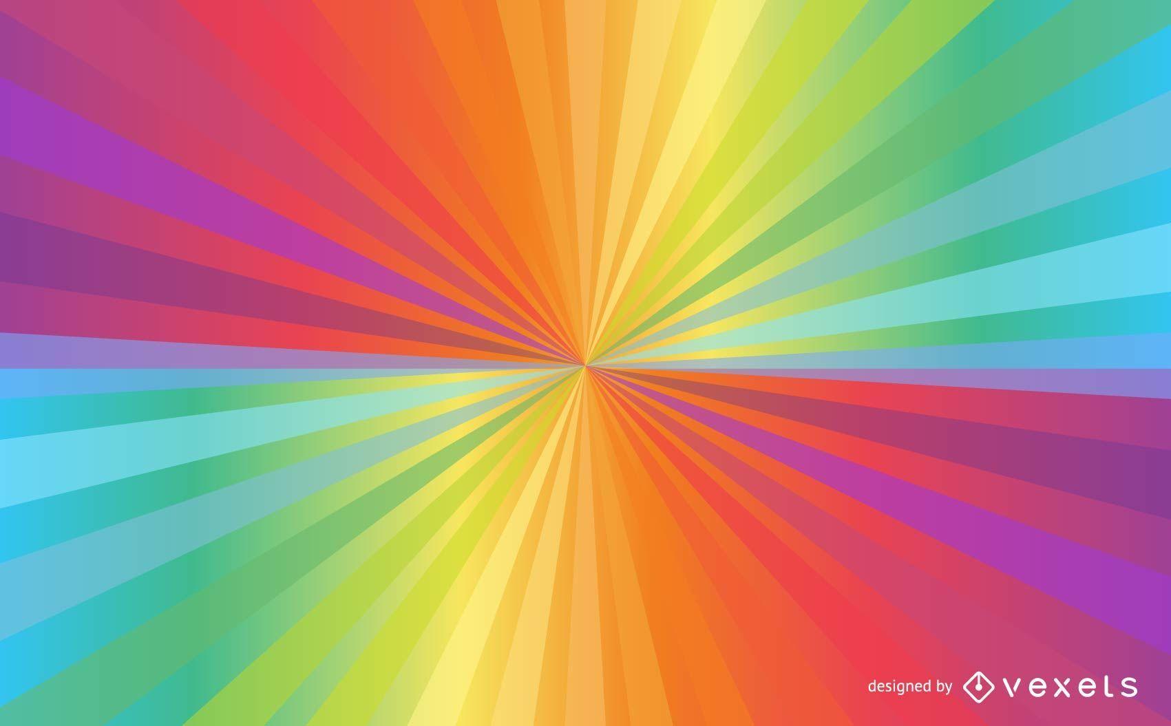 Fondo brillante del rayo de sol del arco iris