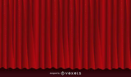 Fondo de cortina roja realista