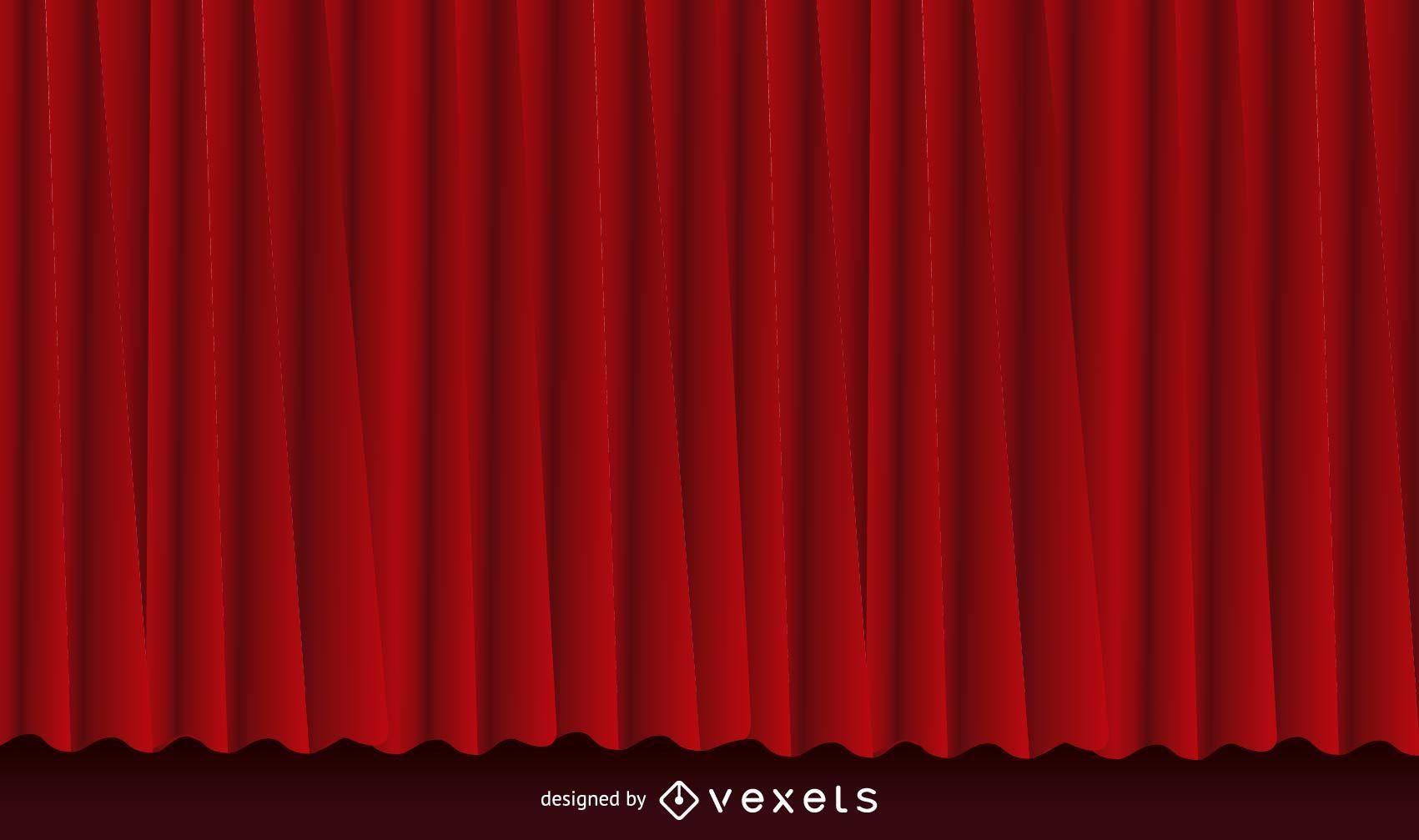 Fundo de cortina vermelha realista