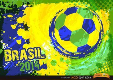 Fondo de fútbol de Brasil 2014 azul verde amarillo