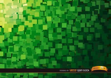 Abstract Green squares background
