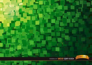 Resumen cuadrados de fondo verde