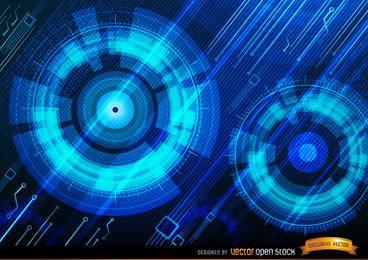 Fundo azul tecnológico