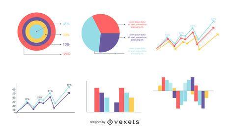 Paquete de gráficos gráficos de información de estilo clásico