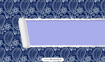 Ripped Seamless Paisley Background