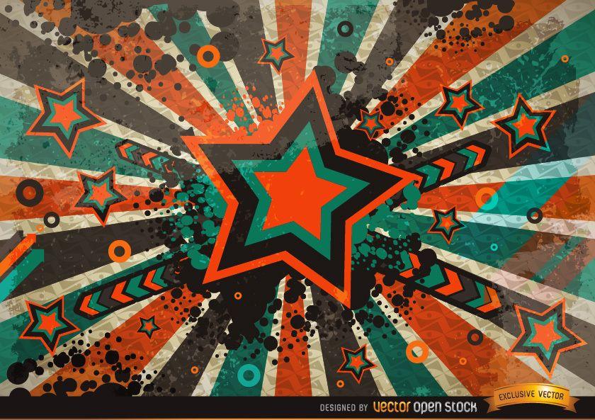 Grunge Vintage Star Background