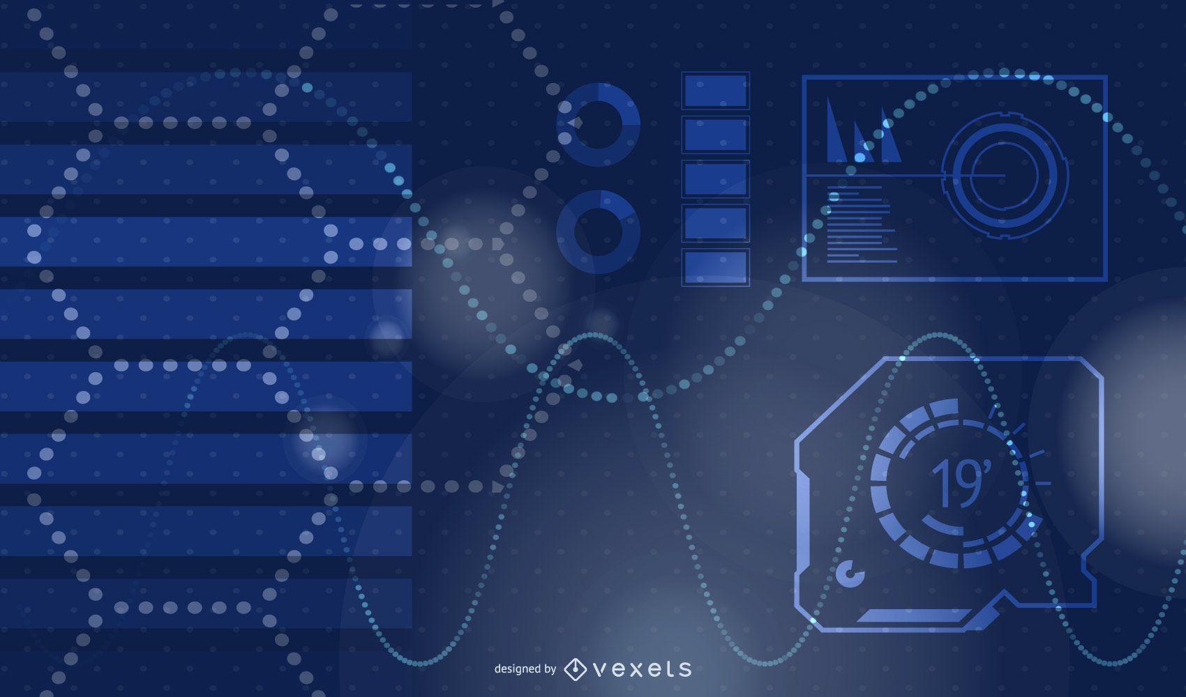 Blue Technology Themed Background Design