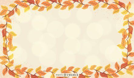 Modelo de quadro de folha de outono