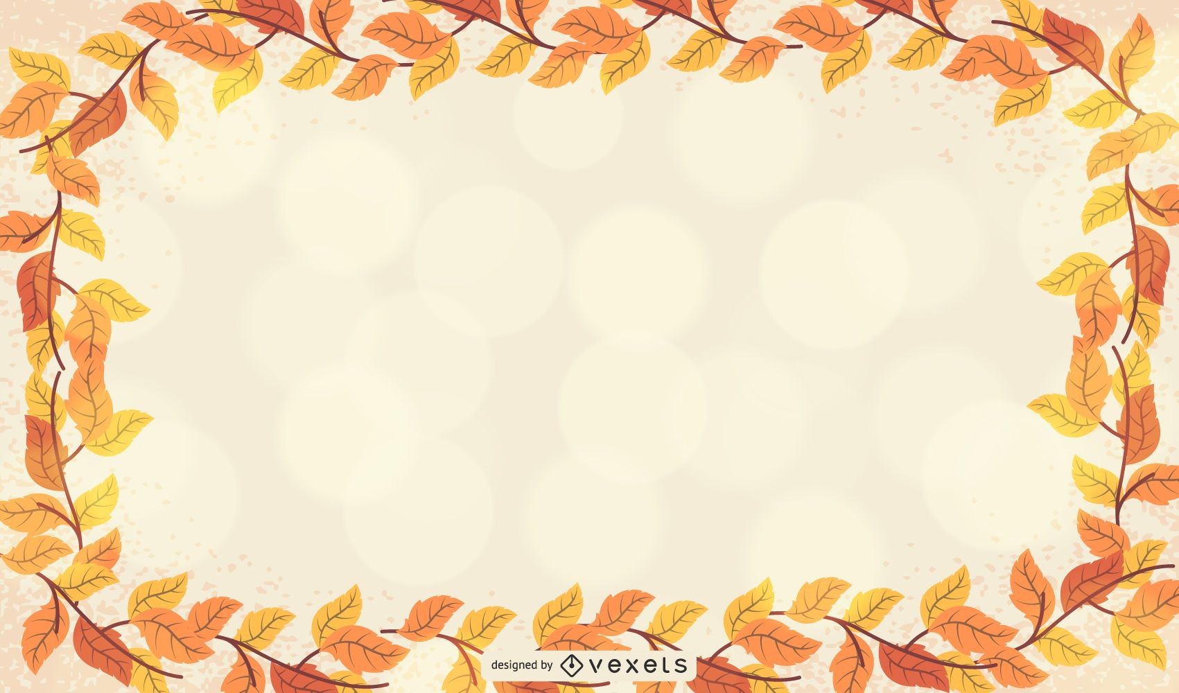 Autumn Leaf Frame Template