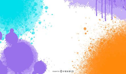 Blast of Grungy Colorful Splashes Background