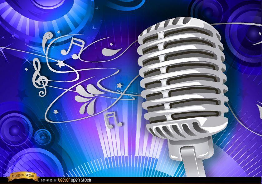 Musikalischer Hintergrund des Mikrofons