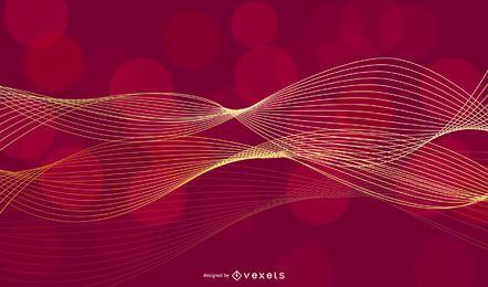 Resplandor dorado abstracto espiral línea de fondo