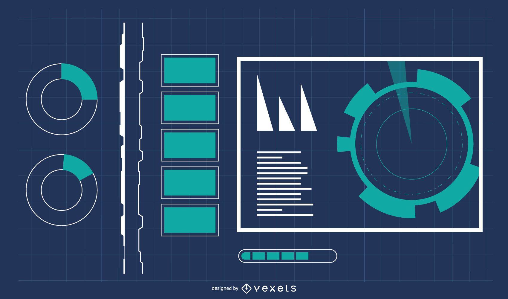 Fondo de tecnolog?a digital con infograf?a