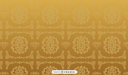 Goldenes Retro dekoratives Muster