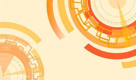 Fundo abstrato de tecnologia laranja