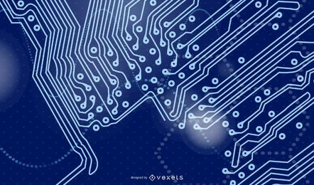 Digitech Blue Futuristic Hintergrund