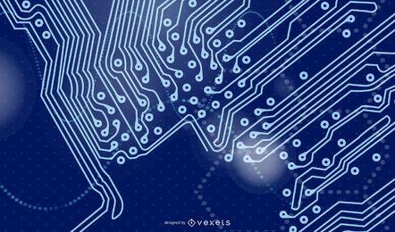 Fundo Futurista Digitech Azul