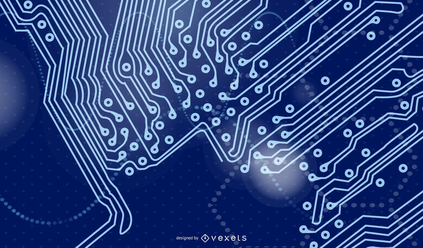 Digitech Blue Futuristic Background