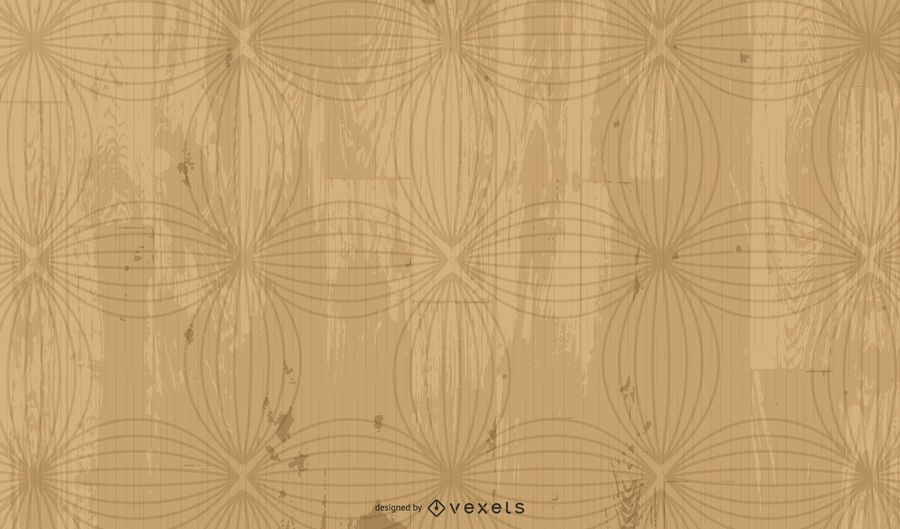 Grungy Wooden Background with Floral Elements