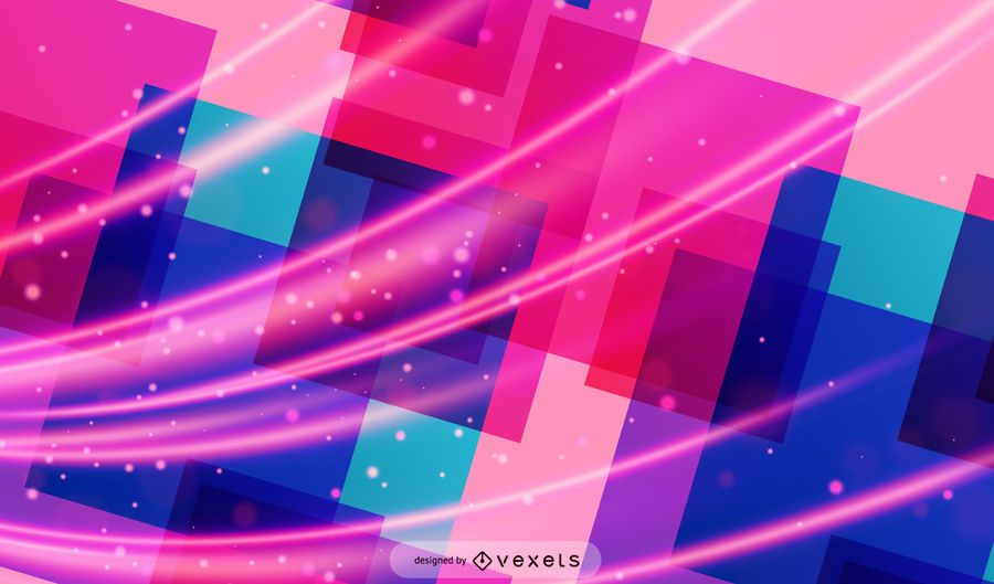 Dynamic Futuristic Fluorescent Squares Background