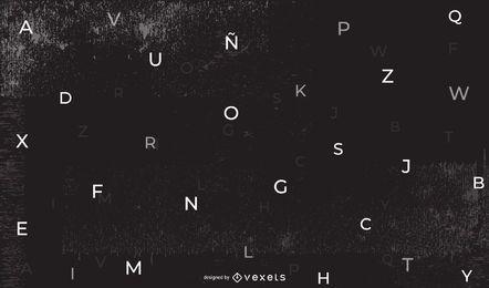 Fundo alfabético abstrato escuro
