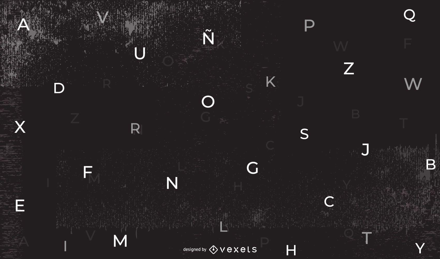 Dark Abstract Alphabetic Background
