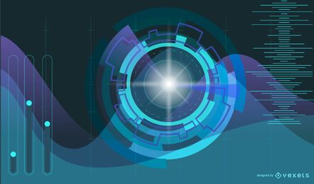 Fundo de luz azul futurista
