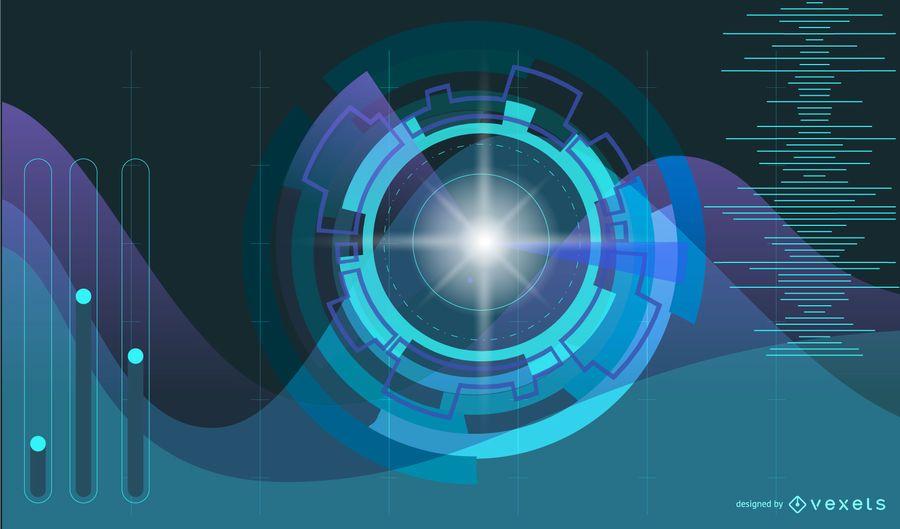 Fondo de luz azul futurista