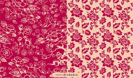 Classic Style Vintage Floral Pattern