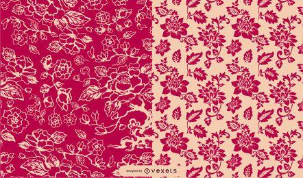 Patrón floral vintage de estilo clásico