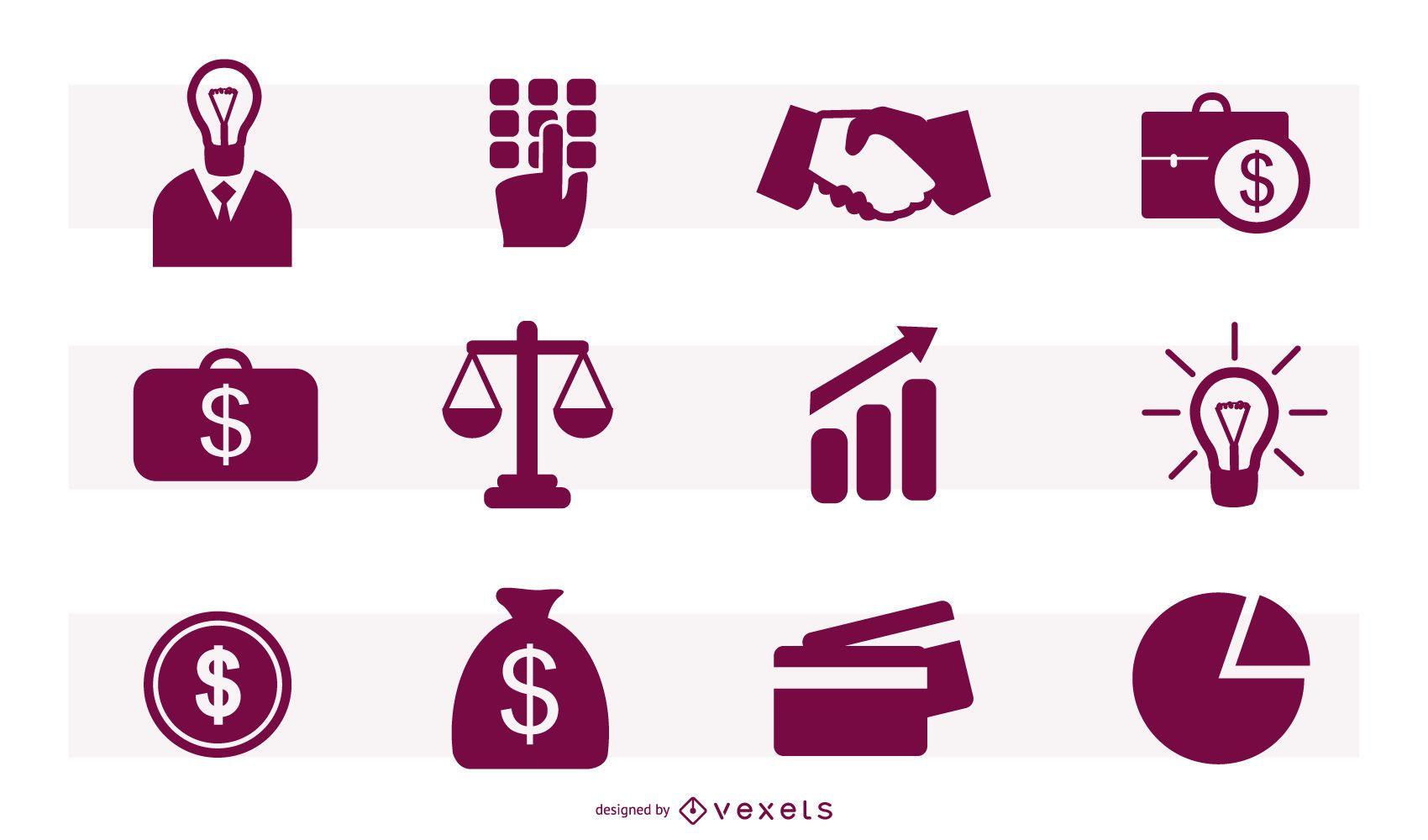 Beautiful Financial Icon Set