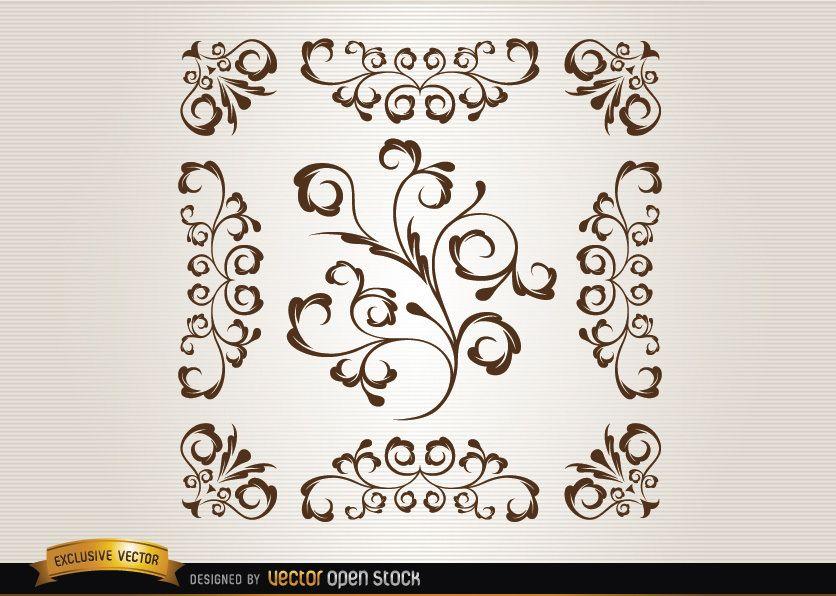 Ornamental swirls
