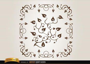 Verzweigungen und Blätter Dekoration