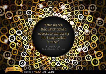 Cita de la música de fondo Huxley