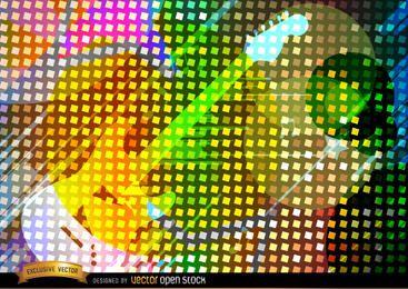 Fundo de guitarra colorido