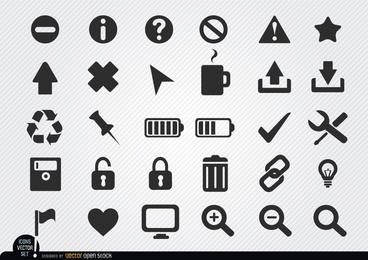 Flache Web-Icon-Set