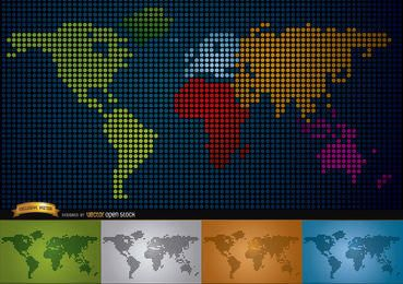 Digital map of world with continents