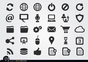 Simple internet icons set