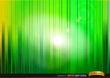Leuchten Sie durch grünen Hintergrund der vertikalen Streifen